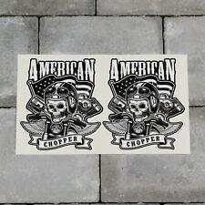 American Chopper Biker Skull Sticker Decal - 106mm x 120mm - SKU6576