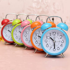 Analog Mini Clocks Quartz Classic Double Bell Alarm Clock Movement Bedside Night