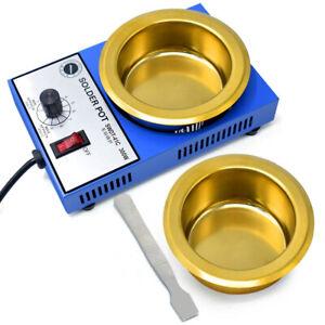 50mm 100mm Solder Pot Furnace Soldering Desoldering Bath Tin Melting Pot  220V