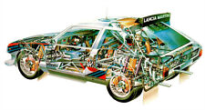 Lancia Delta S4 Rally Cutout Over 1 Meter Wide XXL Glossy Poster! **UK SELLER**