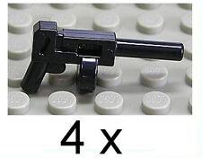 LEGO Waffen - 4 x Maschinengewehr Maschinenpistole Tommy Gun / x1608 NEUWARE