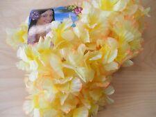 Hawaiikette Gelb Orange Blumenkette Hula Deko Deluxe HKm-05 Beach-Party Hawai
