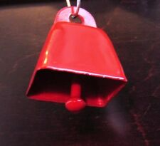 Red Cow Jingle Bells Crafts Christmas Wedding Floral Jewelry 36 pieces - New