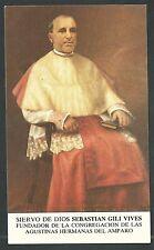 Estampa antigua Siervo Sebastian Gili andachtsbild santino holy card santini