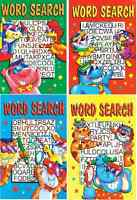 COMPLETE SET OF 4 LARGE PRINT A5 SIZE 48 PAGE WORD SEARCH BOOKS SERIES 935 b/f