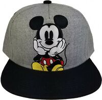 Mickey Mouse Flat Bill Ball Cap Embroidered Hat Adult Size New