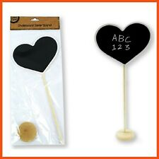 12 X Heart Shaped Chalkboard Table Stand 34cm Weddings Cafes Parties Functions