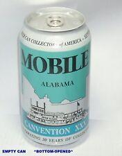 Y2K MOBILE ALABAMA BEER CAN COLLECTOR AMERICA 2000 BCCA RIVERBOAT SOUTHERN BELLE