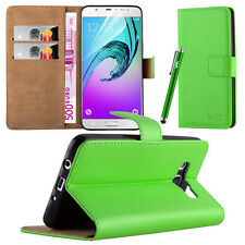 Flip Leather Wallet Book Case Cover Pouch for Various Mobile Phone Screen Guard Samsung Galaxy S7 Lime