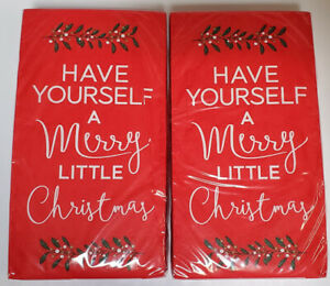 Paper Napkins Christmas 30CT Red Set Of 2 Have Yourself A Merry Little Christmas
