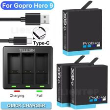 TELESIN Battery Charger Charging Box for GoPro Hero 9 Black Action Camera