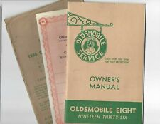 1936 Oldsmobile Eight Original Owners Manual with Service Policy & Lube Chart