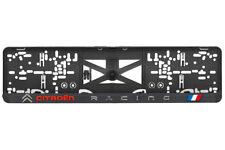 Citroen racing 2xECHTE 3D-Effekt Kennzeichenhalter, Nummernschildhalter