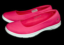 NWOB SKECHERS Goga Mat Skimmers Sneaker Flats 14303W Wo's 7.5 Pink Canvas Boat
