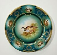 Z.S. & Co Bavaria Hand Plate with Bird Medallions, Gilded