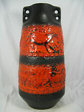 Rare 70´s design Carstens Keramik pottery vase  prehistoric  pattern 150 - 50