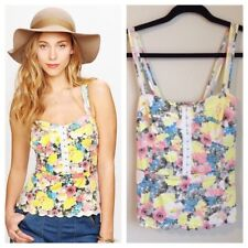 Free People Candy Coated Corset NWT Floral Print Scallop Hem Size 8