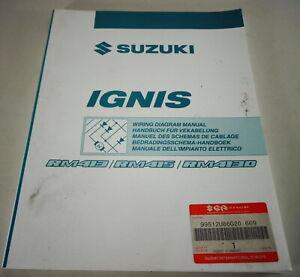 Manual de Taller Eléctrico/Diagramas Cableado Suzuki Ignis RM413/415/413D 05/