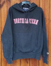 Northeastern Black Vintage Champion Hoodie Size M