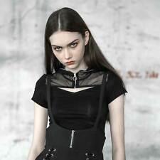 Punk Rave Temper Tantrum Hoodie top capucha-t-shirt mujer negro Gothic emo