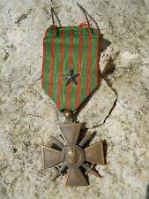 Médaille militaire croix de guerre 1914 1915 avec citation 1 étoile