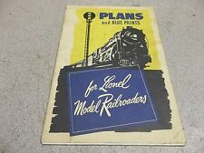 """Plans & Blueprint for Lionel Model Railroading"" 1945 Train Booklet *FREE SHIP*"