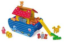Noah's Ark Colourful Wooden 21 pieces NEW