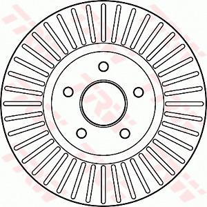 TRW Brake Rotor Front DF6019S fits Ford Telstar 2.0 EFI (AY)