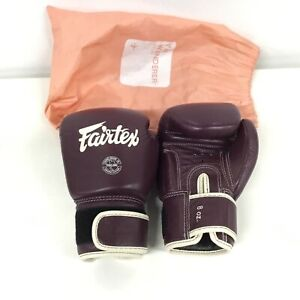 Fairtex Boxing Genuine Leather Purple Gloves, 8oz #323