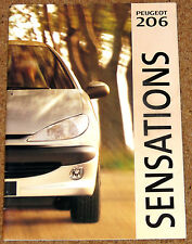 1998 PEUGEOT 206 UK Launch Brochure -L LX GLX XS -Unusual Brochure with 2 Covers