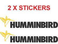 2 X HUMMINBIRD DECAL STICKER FOR BOATS /FISHING 205MM X 40MM