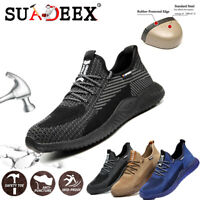 Mens Safety Trainers Shoes Lightweight Steel Toe Cap Work Hiking Boots Non-slip