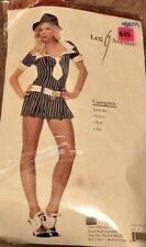 Leg Avenue Costume Gangster Moll Dress BLack/White Stripe Size Small