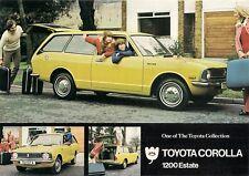 Toyota Corolla 1200 Estate KE20 1973 UK Market Leaflet Sales Brochure