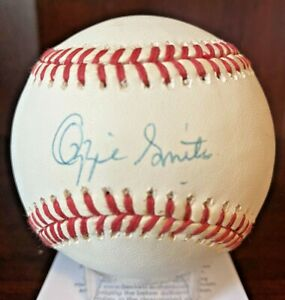 Ozzie Smith Signed Autographed OML Baseball Cardinals Beckett BAS Cert With Case