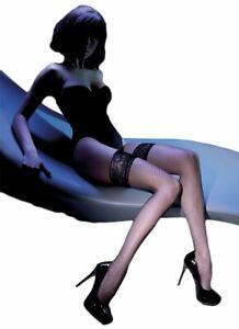 Erotic Fishnet Beige, Black Hold Ups, Gabriella Calze Hosiery