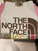 GUCCI x THE NORTH FACE Tshirt Tee White Ivory | Size Medium M BNWT