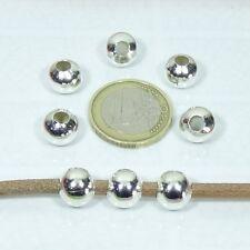 35 Redondos Bolas Lisas 10mm Plateados T12  Round Plating Beads Perline Perles