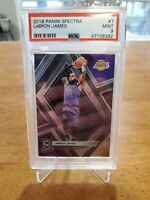 2018 Panini Spectra #7 Lebron James Lakers PSA 9 MINT /175 low pop!