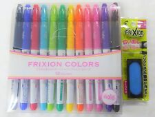 Pilot Frixion Erasable ink Marker pen 12 Colors SFC-120M12C with Frixion Eraser