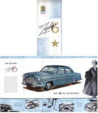 Ford Zephyr 6 Mk 1 1954-55 Original UK small Foldout Sales Brochure No. R2358