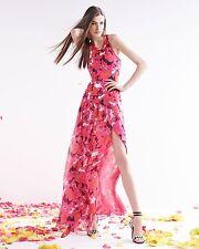 A DVF Diane von Furstenberg Davina Floral Combo Maxi Silk Dress NWT 12