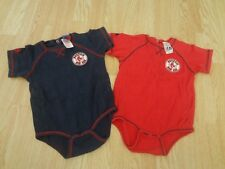 Infant/Baby Boston Red Sox 24 Mo Creepers Lot of 2 Majestic (Red & Navy)