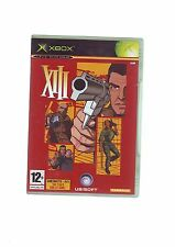 XIII -  XBOX FPS SHOOTER GAME / 360 COMPATIBLE - ORIGINAL & COMPLETE - VGC