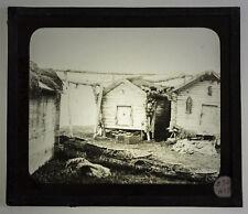 PHOTOGRAPHIE ANCIENNE 19ème MAISONS VILLAGE INUIT Esquimau Plaque verre