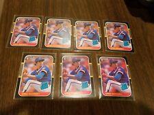 1987 Donruss Greg Maddux Rookie Lot Of 7 - card #36 - Cubs/Braves HOF