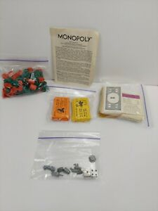 Huge Lot of Vintage 1970's Monopoly Board Game Replacement Pieces Cars Hotels