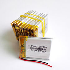 10 pcs 3.7V 200mAh Lipo Polymer Battery For mp3 bluetooth speaker GPS 302530