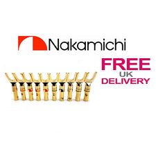 10x Quality Nakamichi Spade Fork connectors  24k Gold plated connector **UK**