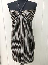 M Missoni - Black & Silver Metallic Lurex Halter Dress Sz 40 Org. Price $595